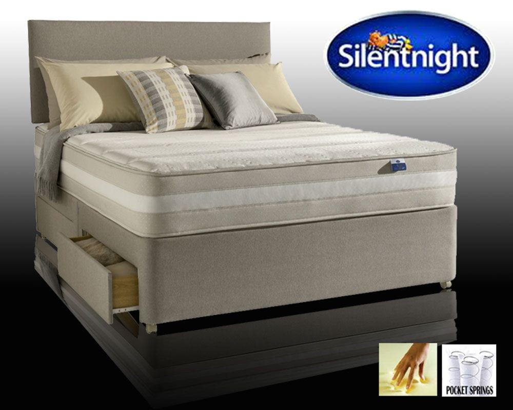 Silentnight Moscow Pocket Memory Super Kingsize 2 Drawer Divan