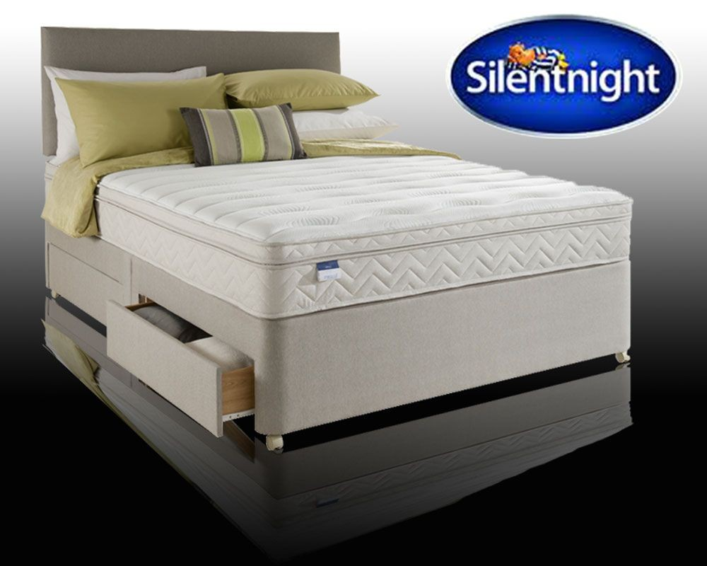 Silentnight Munich Kingsize 4 Drawer Divan With Latex