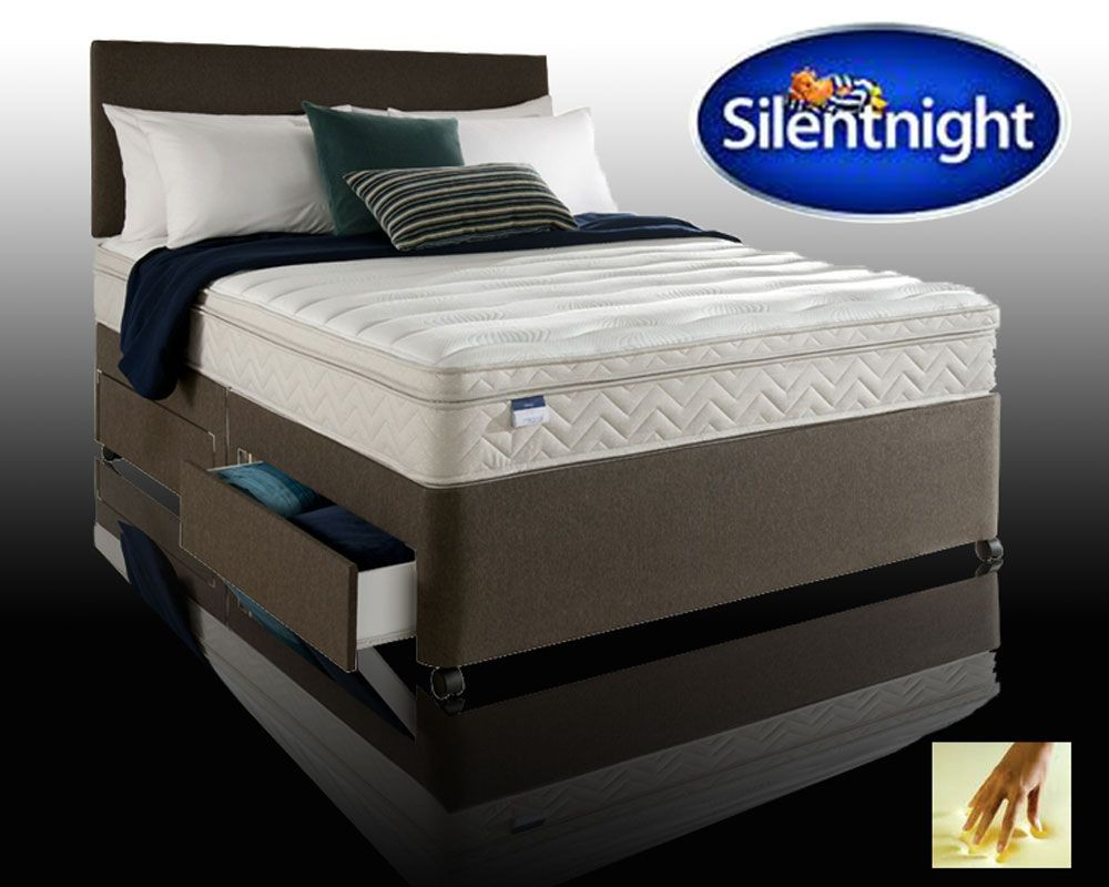 Silentnight oslo super kingsize 4 drawer divan with memory for Silent night divan beds