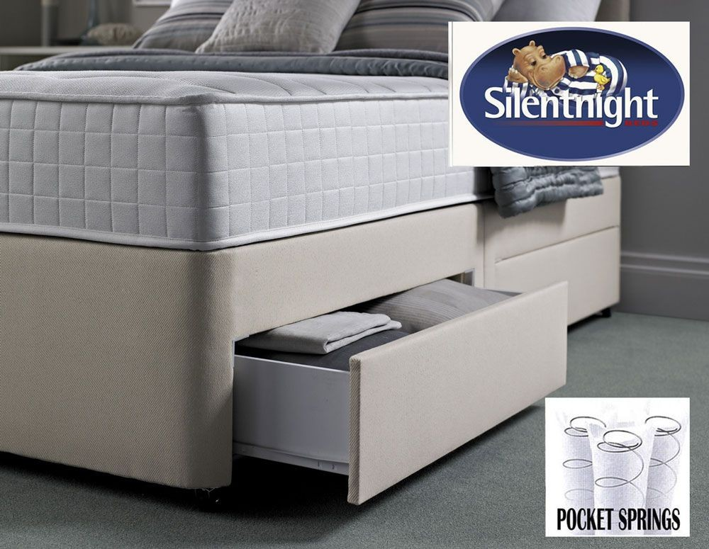 Silentnight Pocket 1000 Single 2 Drawer Divan Bed