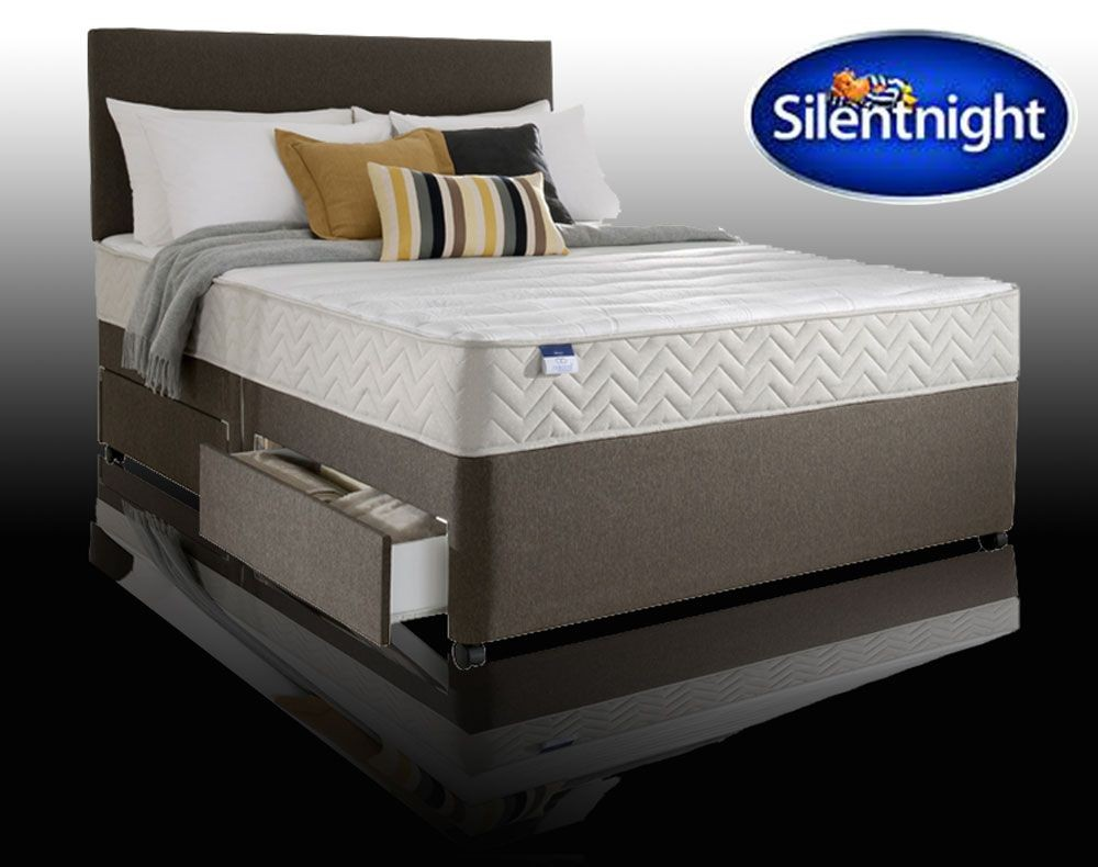 Silentnight Rio Double 4 Drawer Divan Bed