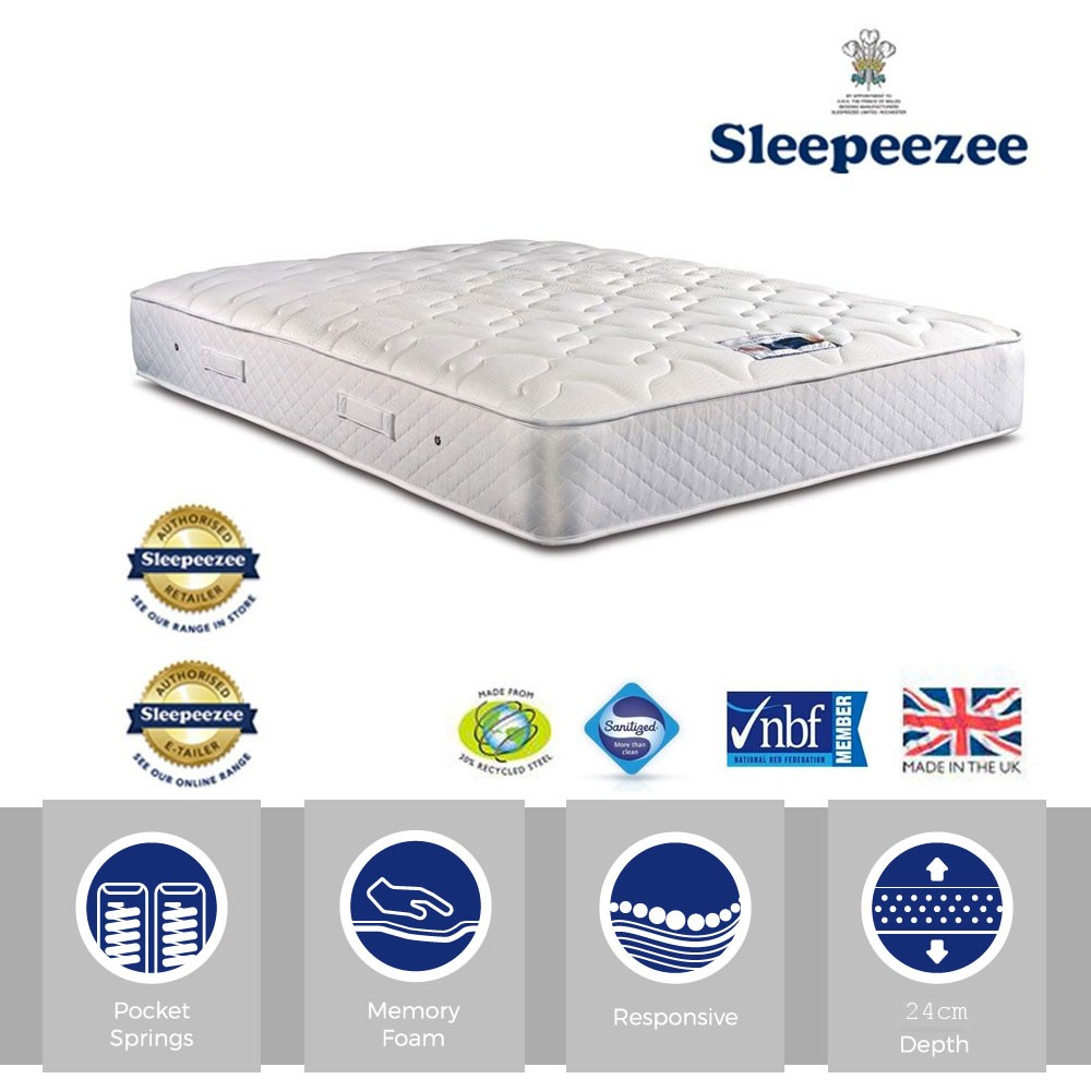 Sleepeezee Memory Comfort 800 Three Quarter Mattress