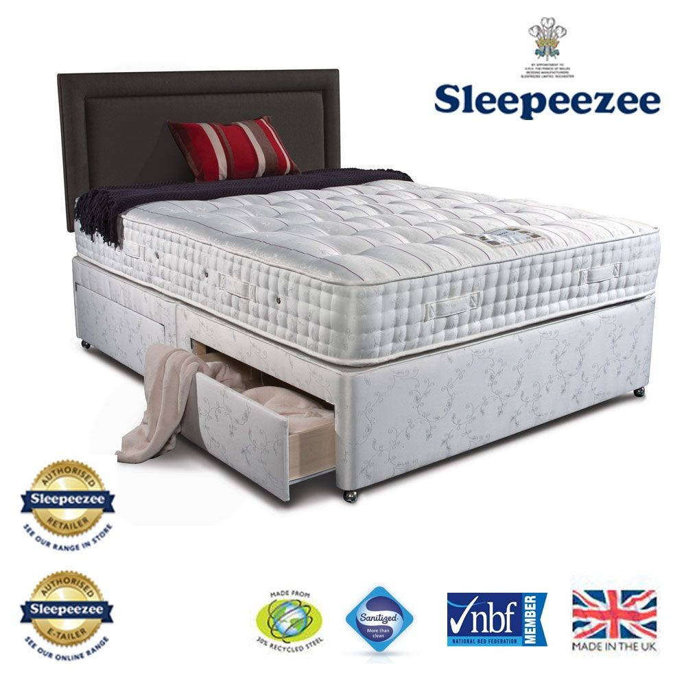 Sleepeezee Kensington 2500 Double Divan Bed