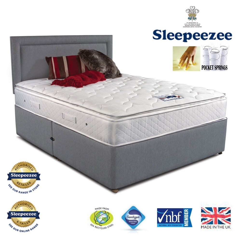 Sleepeezee Memory Comfort 1000 Single Non Storage Bed