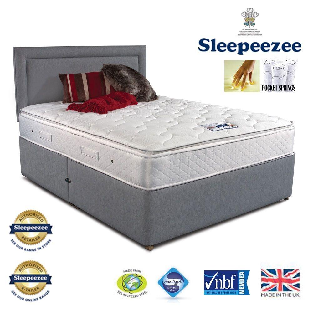 Sleepeezee Memory Comfort 1000 Single Two Drawer Bed