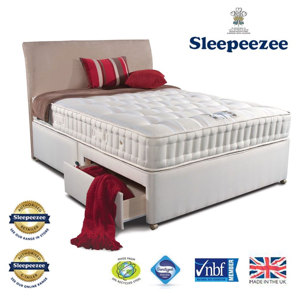 Sleepeezee Naturelle 1400 Double Divan Bed