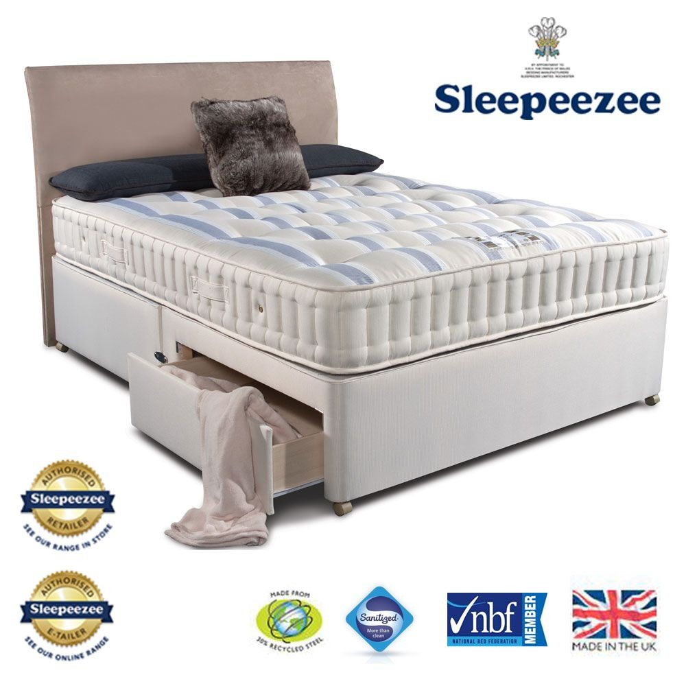 Sleepeezee Naturelle 1200 Super Kingsize Divan Bed