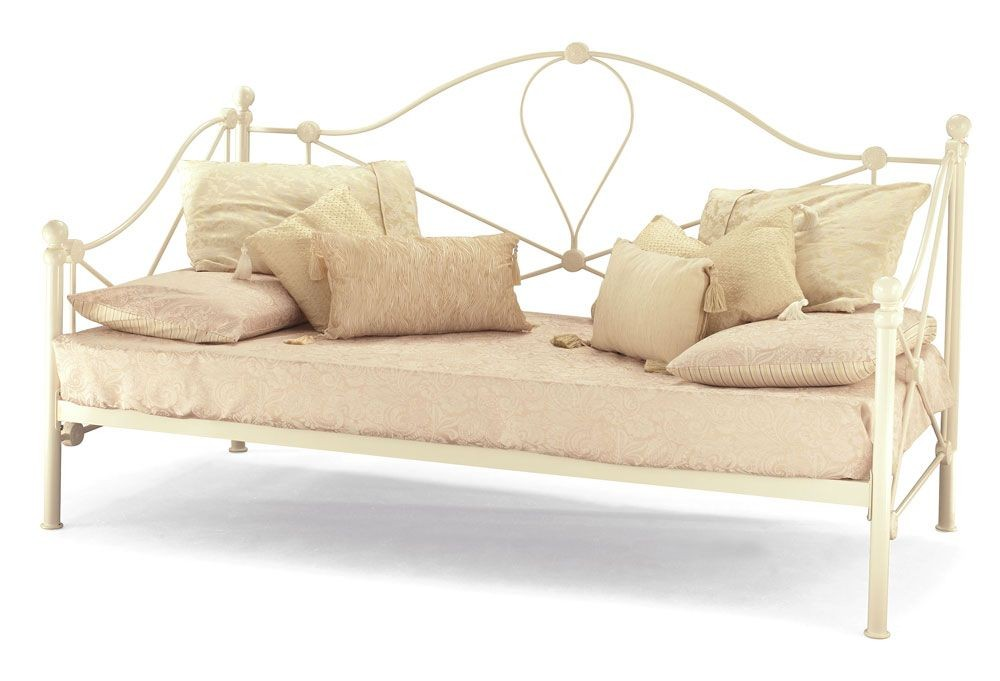 Small Single Lyon Ivory Day Bed Frame