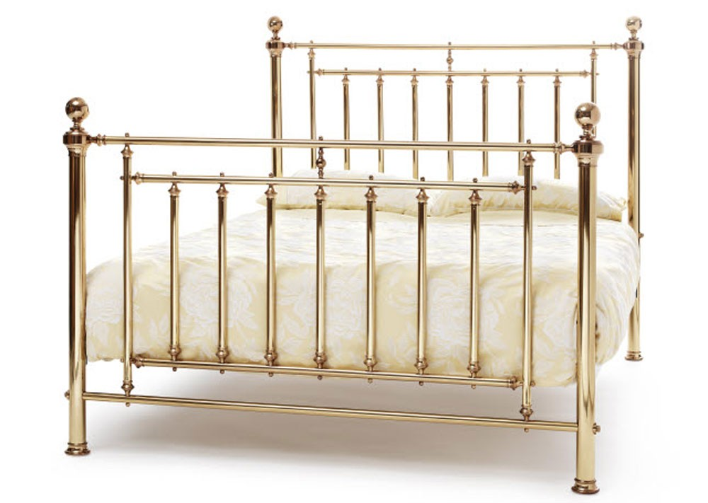 Solomon Brass Kingsize Bed Frame