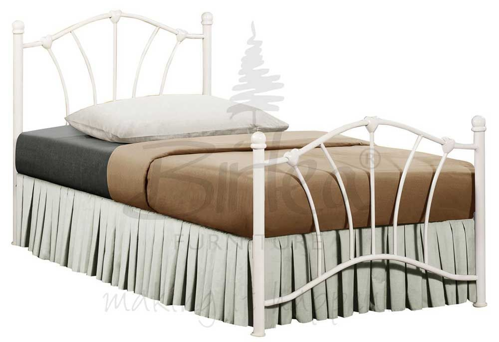 Sophia Cream Single Bed Frame