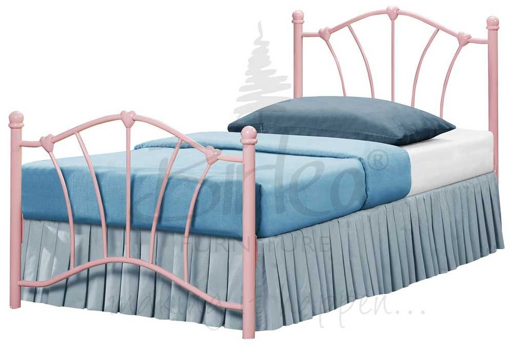 Sophia Pink Single Bed Frame