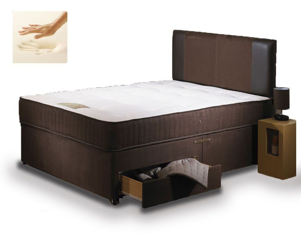Special Memory Three Quarter 2 Drawer Divan Bed