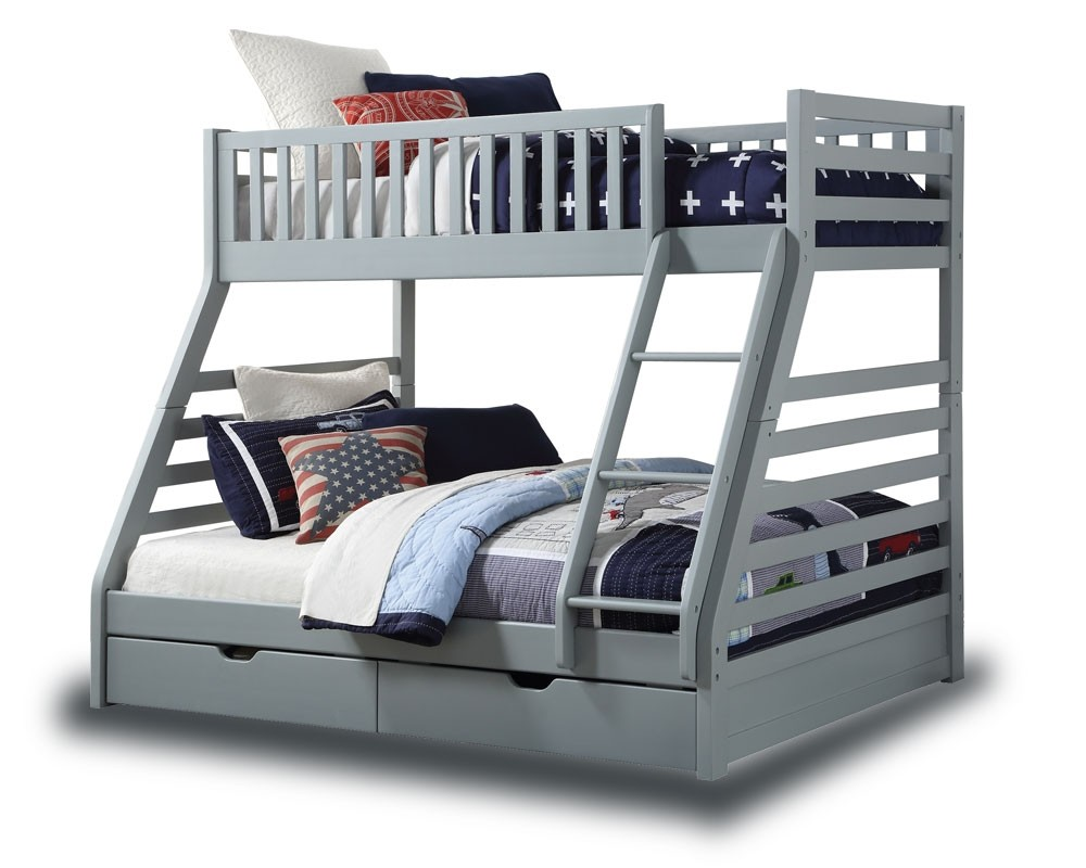 Station Grey Triple Bunk With Drawers