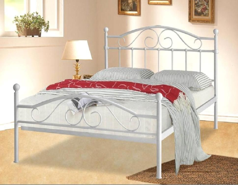Sussex White Double Bed Frame