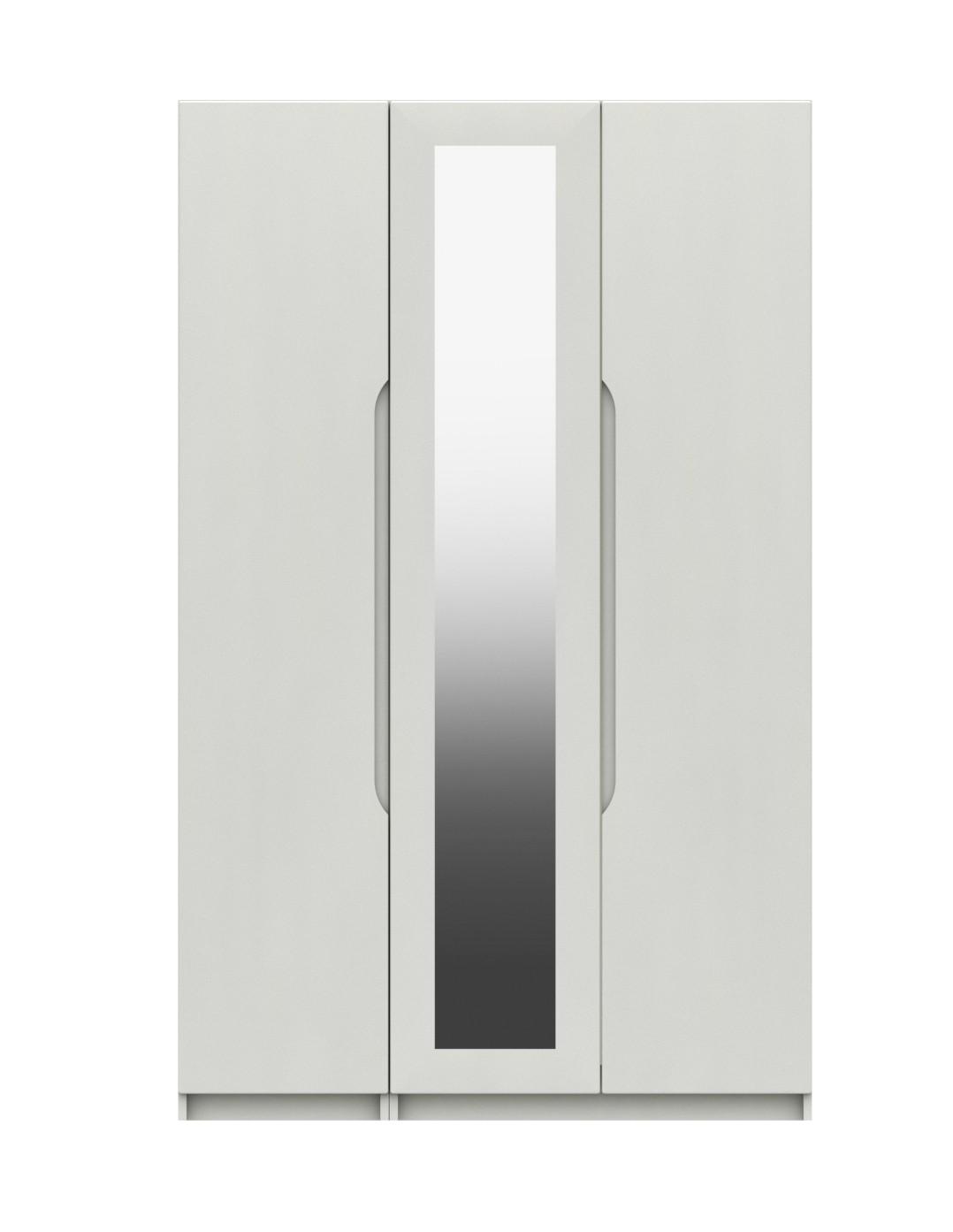 Alpine White Gloss 3 Door Robe With Mirror