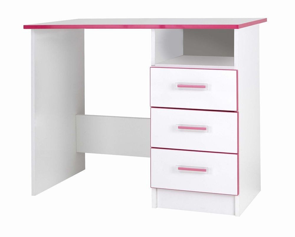 Teen Mode Pink 3 Drawer Desk
