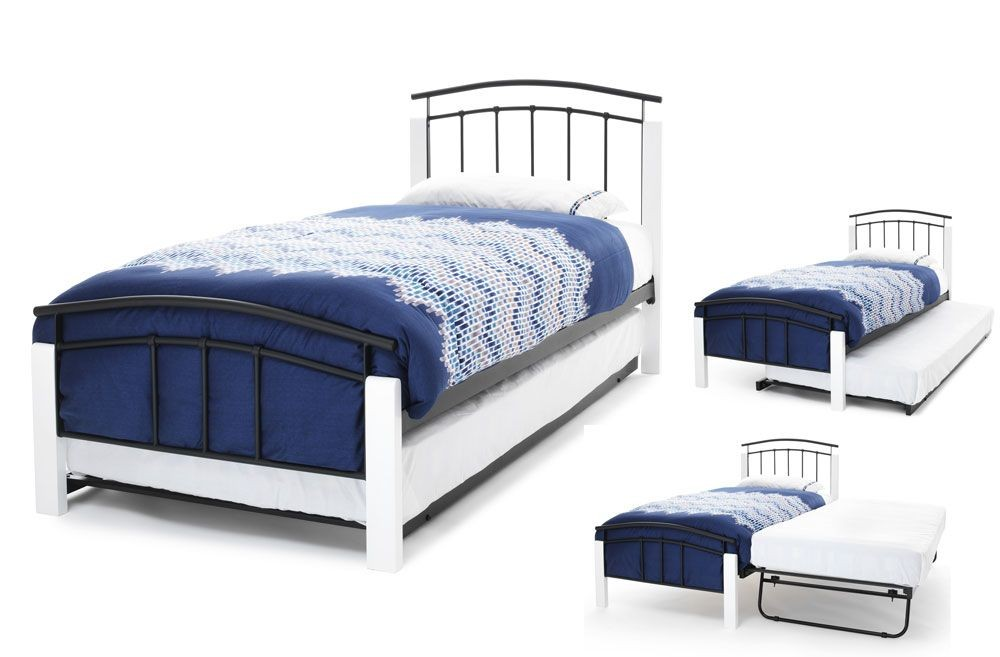 Tetras Black & White Guest Bed Frame