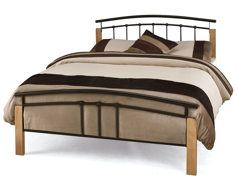 Tetras Black Three Quarter Bed Frame