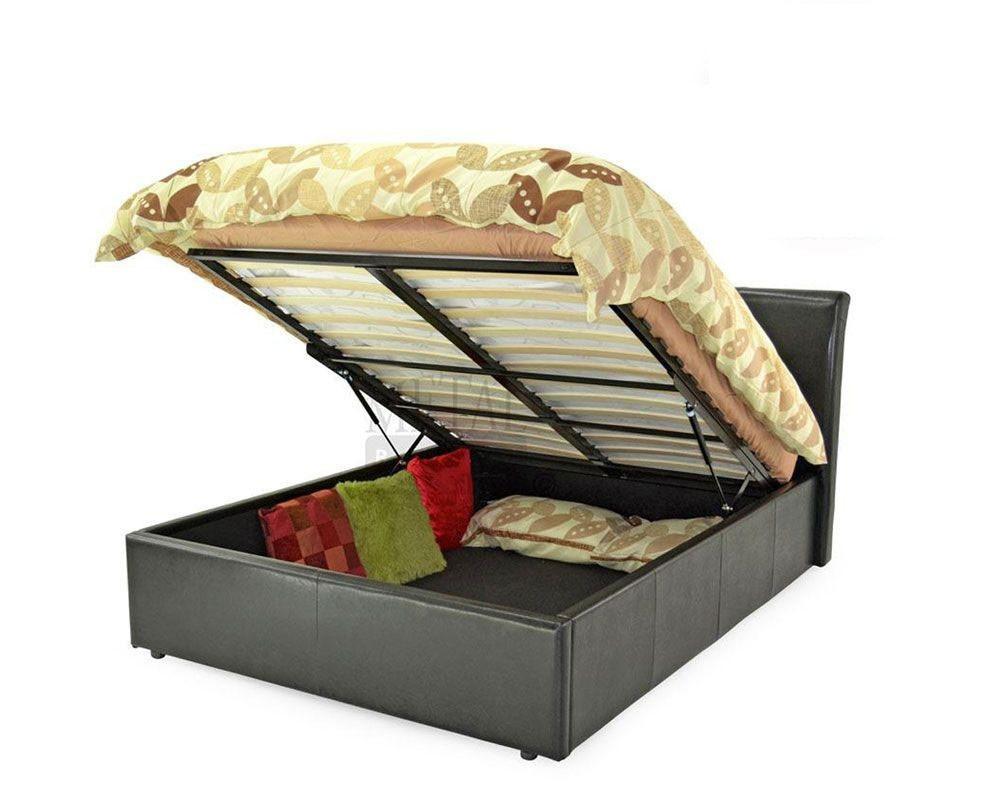 Texan Black Or Brown Ottoman Storage Super King Bed Frame