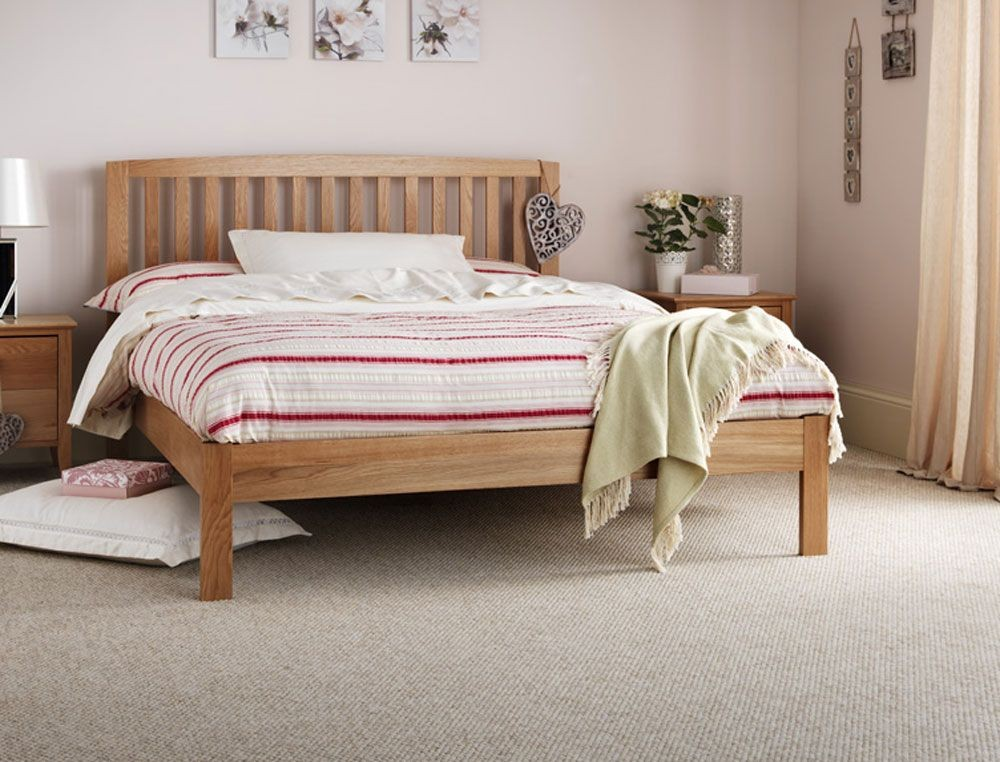 Thornton Oak Double Bed Frame