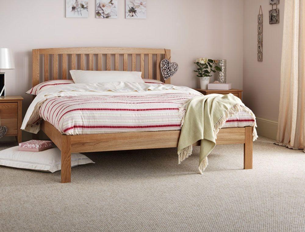 Thornton Oak Double Bed Frame