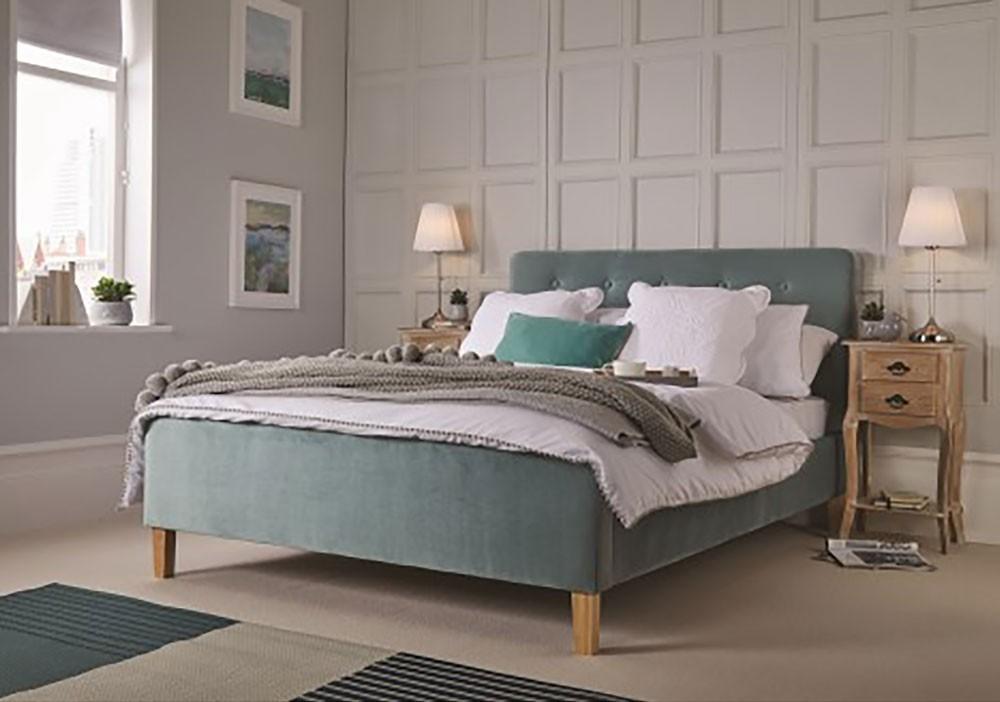 Peter Aqua Bed Frame