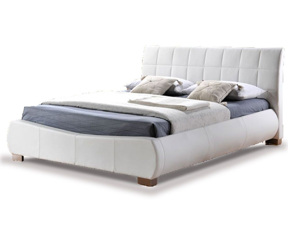 Tornado White Double Bed Frame