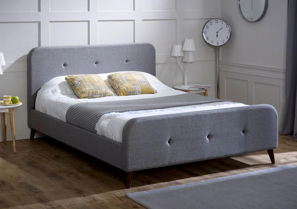 Tuscan Ash Grey Bed Frame