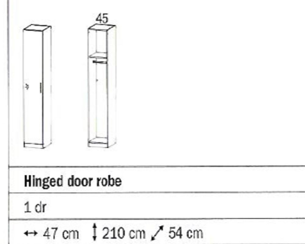 Rauch Sammy Single Door Wardrobe