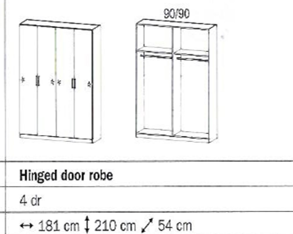 Rauch Sammy 4 Door Wardrobe