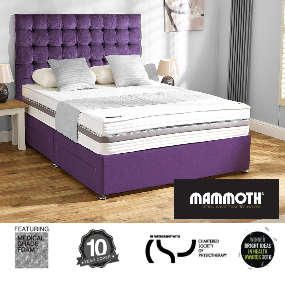 Mammoth performance supersoft 270 single divan bed for The range divan beds