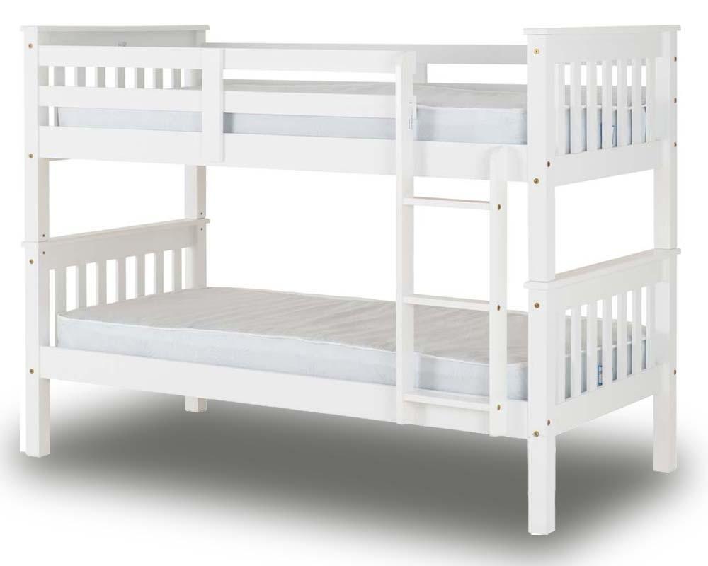 Neptuno White Bunk Bed