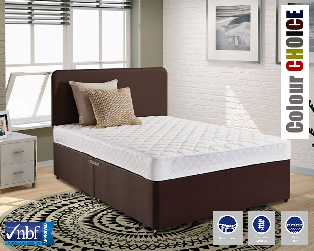 Worthing deluxe three quarter divan bed Three quarter divan bed