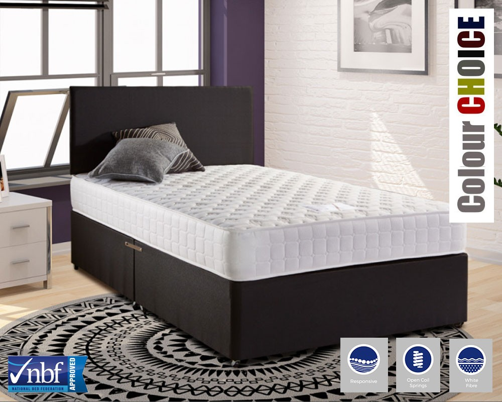 Brighton deluxe three quarter divan bed Three quarter divan bed