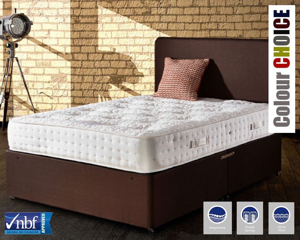 Renoir 1000 Deluxe Three Quarter Divan Bed