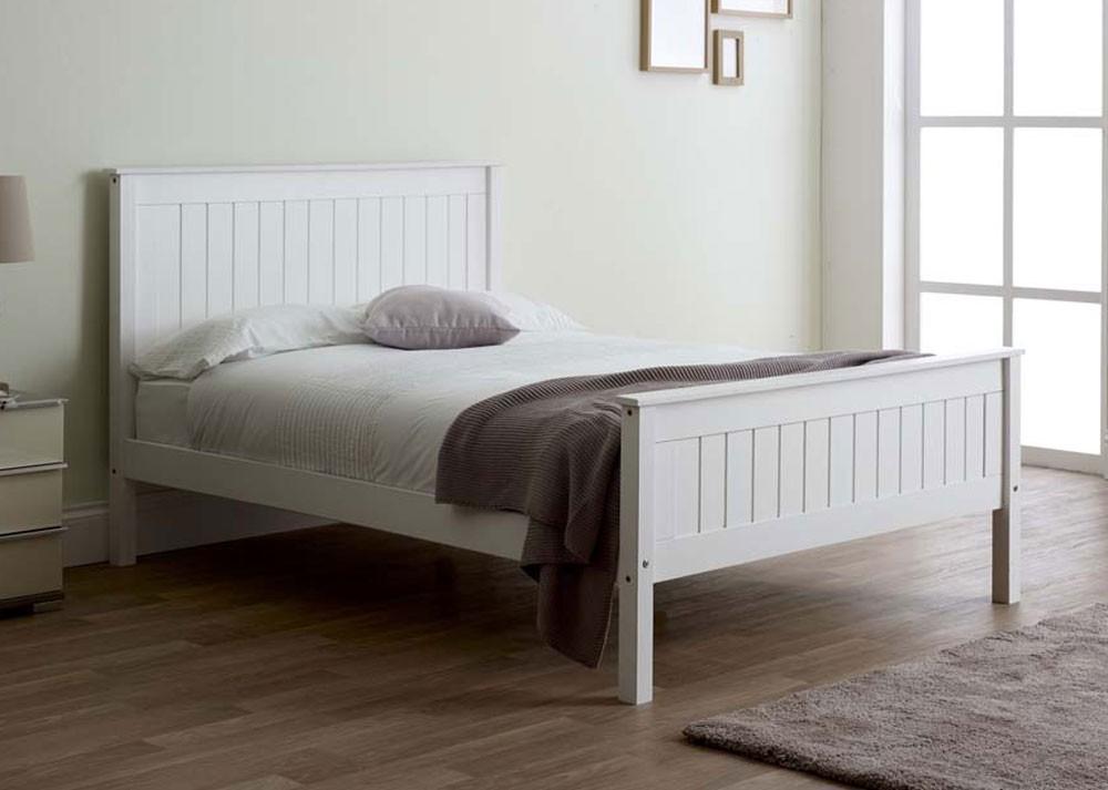 Taurean White Bed Frame
