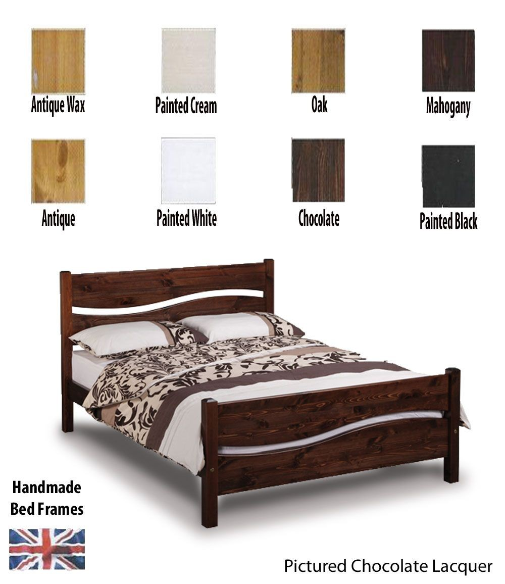 Vienna Handcrafted Three Quarter Bed Frame