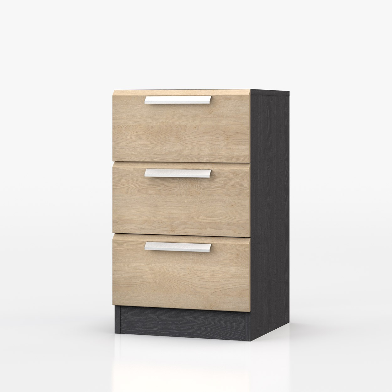 Waterfall Graphite And Oak Bedside