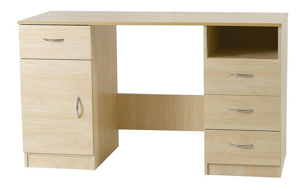 Woodgrain Double Pedestal Dressing Table