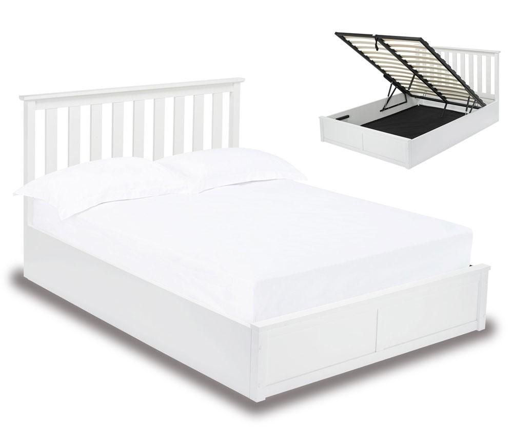 Orton White Ottoman Bed Frame