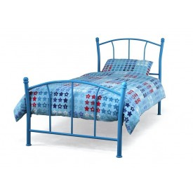 Penny Blue Single Bed Frame