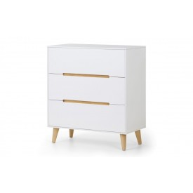 Alcester White 3 Drawer Chest
