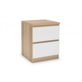 Eternal White 2 Drawer Bedside