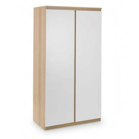 Eternal White And Oak 2 Door Wardrobe