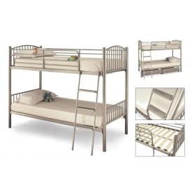Oslo Silver Bunk Bed