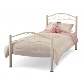 Yasmin White Single Bed Frame