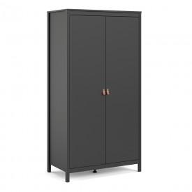 Barton Black 2 Door Wardrobe
