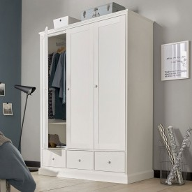 Ashenby White Triple Wardrobe
