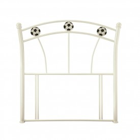 Soccer White Single Headboard