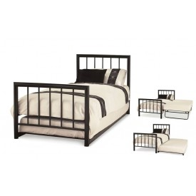 Modena Black Guest Bed Frame